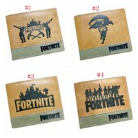 Wholesale purses for teenagers - 4 design Fortnite Cosplay Wallet With Card Holder Coin Pocket teenager Short Purse Cartoon Toys for Kids Gift Bags MMA323