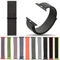 Wholesale fabric wrist watch band resale online - sport woven nylon loop strap for brand watch band wrist braclet belt fabric nylon band for watch1 series mm mm Strap