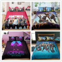Wholesale twin kids bedding set for sale - Game Fortnite Duvet Cover Twin FUll Queen King size Quilt Covers with Double Pillow Case Kids Adult Fiber Cartoon Print Bedding Sheet Set