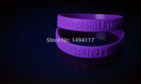 fasion pulseiras venda por atacado-FASION jóias-Silicone Wrist Band de A Reclamação Mundo Livre 100% Silicone 50pcs / lot Sports / Power / holograma pulseira pulseira