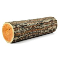 Wholesale log pillows - Wholesale Free Shipping 1Piece Green Log Pillow Wood Grain and Wood Throw Pillows 43*13cm