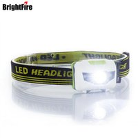 Wholesale H3 Red Led - H3 High Quality 4 Mode Headlamp Waterproof Led Headlight Flashlight White +Red Light Head Lamp Torch Light
