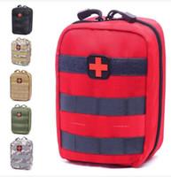 sacos médicos ao ar livre venda por atacado-Saco Vazio para Kits de Emergência Tático Kit de Primeiros Socorros Médicos Pacote de Cintura Telefone Ao Ar Livre Camping Caminhadas Viagem Tático Molle Bolsa Mini 2018