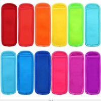мешки для обледенения оптовых-Антифриз эскимо сумки морозильник эскимо держатели многоразовые неопрена изоляции льда поп рукава сумка для детей Летняя кухня инструменты