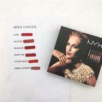 Wholesale nyx lip lingerie sets online - Nyx Lingerie soft matte set liquid lipstick lip gloss lipcolour WITH BOX