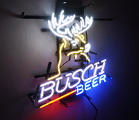 ingrosso segno al neon di birra chiara di busch-New Star Neon Sign Factory 17X14 pollici Real Glass Glass Sign Light per Beer Bar Pub Garage Room Busch Beer.