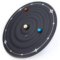 Wholesale mars pendant resale online - Galaxy Magnetic Wall Clock Mars Earth Magic Venus Suspension Pointers Creative Electronic Home Fashion Clocks Decoration Pendant hs hh
