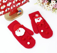 Wholesale rabbit gloves mittens for sale - Group buy Children Merry Christmas Gloves Rabbit Fur Santa Claus Snowman Mittens Gilrs Winter Soft Warm Gloves For Students Cycling Outdoors
