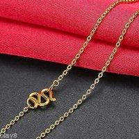 999 gold halskette großhandel-Neue Feine Pure Solid 999 24 Karat Gelbgold Kette Frauen O Link Halskette 18 zoll
