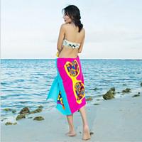 ingrosso asciugamani sottili di cotone-Tovagliolo da spiaggia rettangolare in cotone sottile con delfino, asciugamano, coperta, stuoia di yoga all'ingrosso
