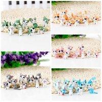 ingrosso bonsai che forma-Creativo Mini Figurine Giocattoli Multi colori Micro Paesaggio Decorazioni Per la casa Bonsai Giardino Cat Forma Ornamento Moda 1 05xz B