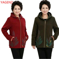 Wholesale Middle Age Women Clothing - Fashion Middle-aged women's clothing Large size Women Hoodies 5XL Spring autumn coat NEW Leisure Women tops High quality BN3091