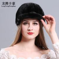 58eb8bdf1cb Female fur hats Mink Fur Cap Knitted Hats For Winter Women Beanies 2017  fashion Russian hat cap for women elastic Knitting caps D18110102