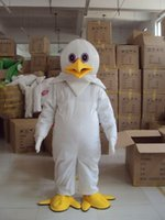 traje de frango branco adultos venda por atacado-Venda quente de alta qualidade especial Branco Frango Fancy Dress Adulto Animal Mascot Costume frete grátis