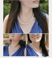 Wholesale elegant silver necklaces - In Stock Elegant Wedding Bride Jewelry Pearls Luxury Cheap Bride Accessory Wedding Party Wear Lobster Clasp