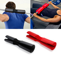 Wholesale foam back cushion - Foam Neck Shoulder Back Protective Barbell Squat Pad Weight Bar Squat Pad Barbell Cushion Gel Support Grip DDA184