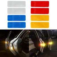 Wholesale strip decal resale online - 2pcs Auto Warning Strip Reflective Strips Stickers CM Car Decal Sticker Colors Bumper Car Sticker Car Styling