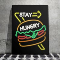 Wholesale Unframed Alec Monopoly quot STAY HUNGRY quot HD Canvas Print home decor wall art painting office art culture