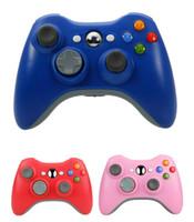 controlador de jogo sem fio grátis frete grátis venda por atacado-Frete grátis USB Wireless Game Pad Controller para uso com Xbox 360 (preto, azul e rosa) sem caixas de varejo