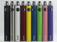 Wholesale regulator electronics for sale - EVOD battery Variable Voltage colors regulator V V mah mah mah electronic cigarette match with CE4 MT3 atomizer DHL Free