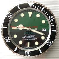 clock decor achat en gros de-Excellente horloge murale MER 126660 126600 116660 34CM x 5CM 3kg en acier inoxydable Chronographe Quartz Bleu Luminescent Home Decor horloge