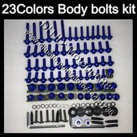 Wholesale 99 Honda Cbr F4 - Fairing bolts full screw kit For HONDA CBR600F4 99 00 99-00 CBR600 F4 CBR 600 F4 CBR 600F4 1999 2000 Body Nuts screws nut bolt kit 23Colors