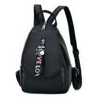 dual zipper UK - New Women Backpack Bag Multi-purpose Dual-use Chest Bag PU Leather travel backpack Female school backpacks Casual school