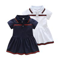 Wholesale european baby clothing for sale - Retail Baby Girl Dress Summer Girls Dresses Style Infantile Dress Hot Sale Baby Girl Clothes Summer Solid Color Dress Low Price