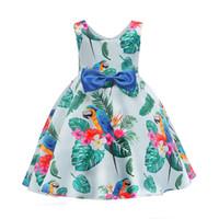 детские вечерние платья оптовых-классическая девушка платье короткое рукавов зеленые листья боути платье принцессы для 3-10years девушки дети дети ужин платье производительности