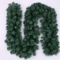 aros florais venda por atacado-Grinaldas Verdes artificiais Rattan Floral Hoop Simulação Grinalda Fontes Do Partido Festivo Feliz Natal Decoração Bar Mercado Ornamento 12bf gg