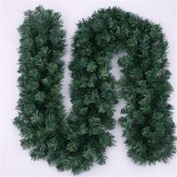 yılbaşı çelenkleri toptan satış-Yapay Yeşil Çelenkler Rattan Çiçek Hoop Simülasyon Çelenk Şenlikli Parti Malzemeleri Merry Christmas Dekor Bar Pazarı Süs 12bf gg