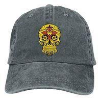 kadın şekeri kafatası toptan satış-Erkekler ve Kadınlar Için beyzbol Şapkası, NewMeksika Bayrağı Şeker Kafatası kadın Pamuk Ayarlanabilir Kot Kap Şapka