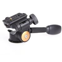 plaque de dégagement rapide de caméra vidéo achat en gros de-QZSD Q08 Aluminium 3 voies culbuteur rotule vidéo trépied rotule plat plaque de libération rapide pour DSLR caméra trépied cardan