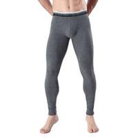 ausbuchtung spandex großhandel-Winter Thermo-Unterwäsche Männer lange Unterhosen Thermohosen bequeme Baumwolle sexy Beule Leggings Slim Fit Hose für Mann Nachtwäsche niedrigen Taille