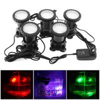 12v led bahçe spot ışıkları toptan satış-5 adet 12 V LED Sualtı Spot Lamba Değiştirme 7 Renk Su Geçirmez Spot Işık Bahçe Çeşmesi Fish Tank Havuz Gölet Aydınlatma için