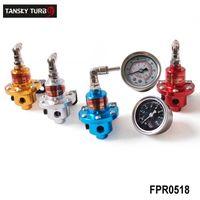 Wholesale race car fuel - Tansky -- 1-160 PSI Adjustable Fuel Pressure Regulator Kit FPR SA*D W  Gauge Jdm Car Auto Universal Racing For BMW E46 M3 330TK-FPR0518