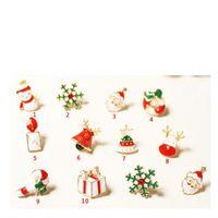 Wholesale 3d Christmas Nail Designs - 30pcs Alloy 3d Christmas Nail Art Jewelry Snowflake Santa Claus jingle bells Xmas Tree Pattern Design 2018 New Year Decoration