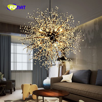Wholesale Vintage Acrylic Lamps - FUMAT vintage lights retro loft spark fireworks Acrylic LED 36w Pendant Light Dining  Living Room Kitchen Light Hanging Lamps