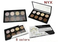 Wholesale Wholesale Grooms Wear - NYX Highlight & Contour Pro Pattle Review Face Pressed Powder Foundation Grooming Shadow Powder Palette Makeup Cosmetic 8 Colors free ship