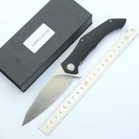 aleta de titânio venda por atacado-Guerreiros flipper faca dobrável D2 cetim lâmina G10 + titanium aço punho faca de bolso caminhadas ao ar livre ferramentas de acampamento de sobrevivência facas táticas