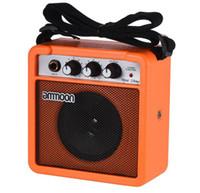 elektrik gitar amplifikatörleri toptan satış-Mini 5 Watt Akustik için 9 V Akülü Amp Amplifikatör Hoparlör / Elektrik Gitar Ukulele Yüksek Hassasiyet
