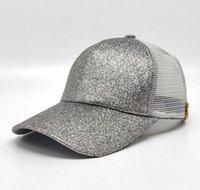 Wholesale green ponytail - Hot CC Women Baseball Hats Ponytail Caps Horsetail Baseball Cap Hot Sell Summer Hat Snapback Adjustable DDA177