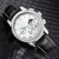 Wholesale wholesale watches japan - 2018 Fashion stainless Steel Quartz Man Leather watch Japan Movement watches Waterproof 40mm male Wristwatches Noctilucent function via DHL
