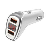 nuevo tipo de cargador de teléfono al por mayor-Nuevo SUGU LED Cargador de coche con pantalla digital USB tipo C Cargador rápido inteligente Cargador rápido de teléfono móvil