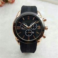 reloj de silicona al por mayor-2018 Nueva Moda Auto Fecha Relojes Hombres Famoso Reloj Masculino Reloj de pulsera de Cuarzo Dorado Correa de Silicona Negro Oro Rosa Relogio masculino