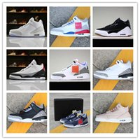 Wholesale popular mens casual shoes for sale - Group buy 2018 Hot Sale Jumpman III Multiplecolors Popular Casual Basketball Shoes Mens High quality S Wolf Grey Designer Sports Sneakers Size