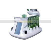 Wholesale facial frequency machine online - 4 in Korean model hydar facial hydra dermabrasion RF bio microcurrent sixpolar radio frequency spa machine