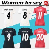 Mulheres ISCO Real Madrid casa branca Camisas De Futebol 18 19 Real Madrid  Mulheres longe Camisas De Futebol 2019 senhora 3 vermelho Futebol uniformes  ... 972550f3bca7e