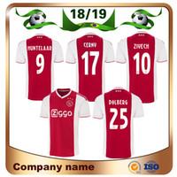 4ab801bbb 18 19 Ajax 9 HUNTELAAR Jersey de fútbol 18 19 Ajax Home Red Camiseta de  fútbol CRUIJFF KLAASSEN DOLBERG NOURI Uniforme de fútbol personalizado