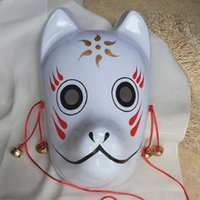 Wholesale red fox mask resale online - Event Party Supplies Hand painted Fox Mask Endulge Japanese PVC mask cosplay Full Face Halloween Masquerade Anime Cosplay Masks